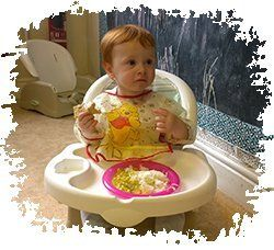 Baby having a meal