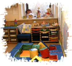 Toys in a childcare