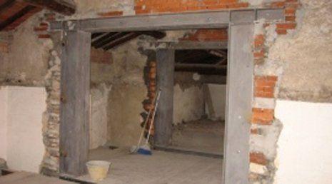 Interni di casa in ristrutturazione