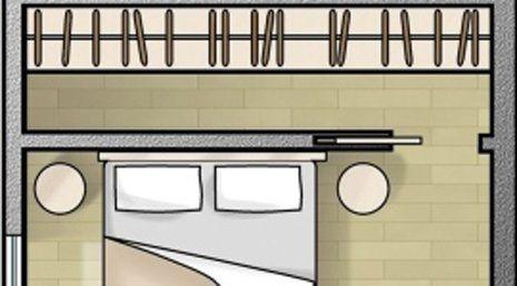 Disegno stilizzato di una camera da letto