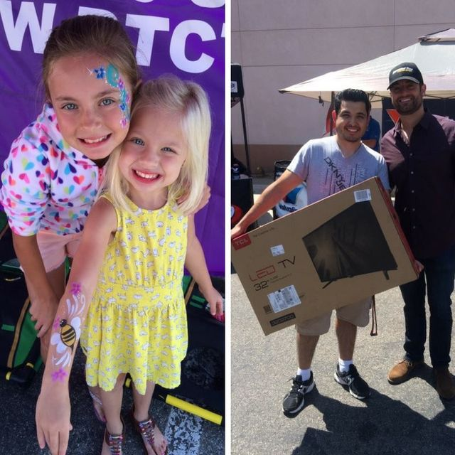 Face Painting and Prize Winner at Wildomar Discount Tire Centers grand opening