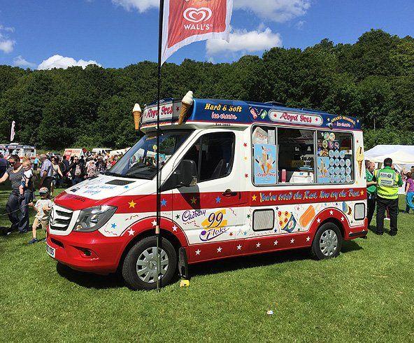Ice cream van on a sunny day
