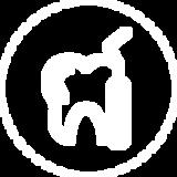 Icona di un dente e un rampino da dentista