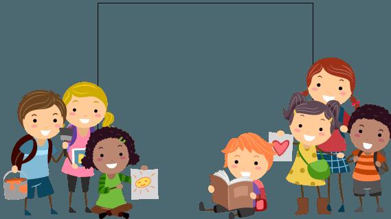 Cartoon toddlers