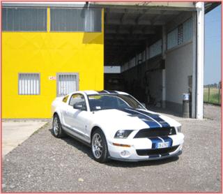 macchina da corsa bianca e blu
