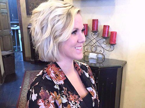 Woman at the professional salon in Kalispell, MT
