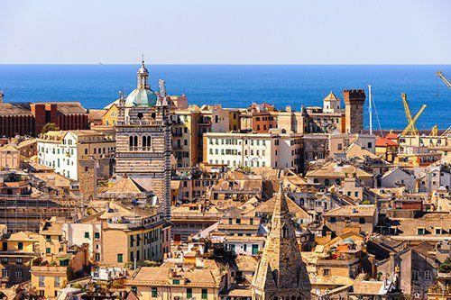 Vista panoramica di Genova