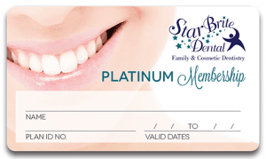 Picture of StarBrite Dental Platinum Membership Card