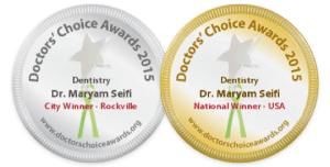 2015 Doctor's Choice Awards USA National Winner for dentistry, Dr. Maryam Seifi