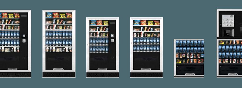 sei piccole immagini di distributori automatici