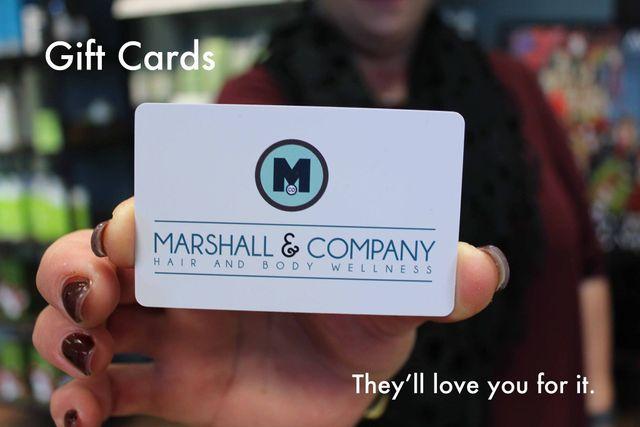 Marshall and Company Salon gift cards