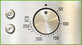Manopola della temperatura di un forno