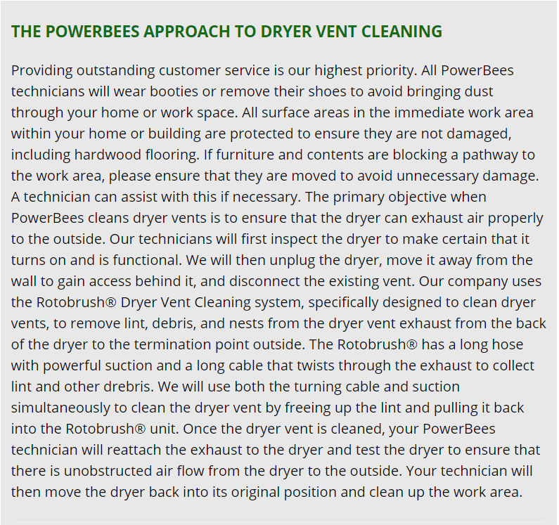 READING dryer vent cleaning