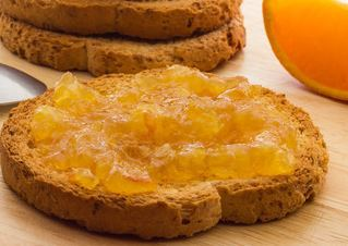 Wholemeal toast and marmalade