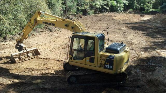 Excavators work in Bay of Plenty