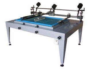 Guided squeegee screen printing machines
