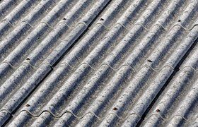 A close up of corrugated metal