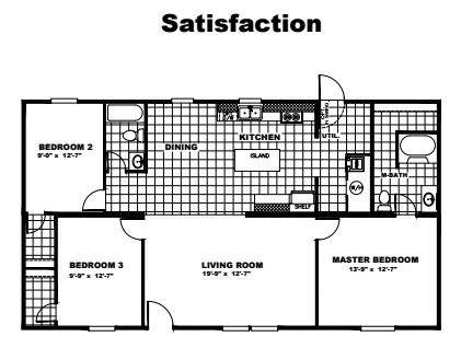Tru Homes Satisfaction Floor Plan