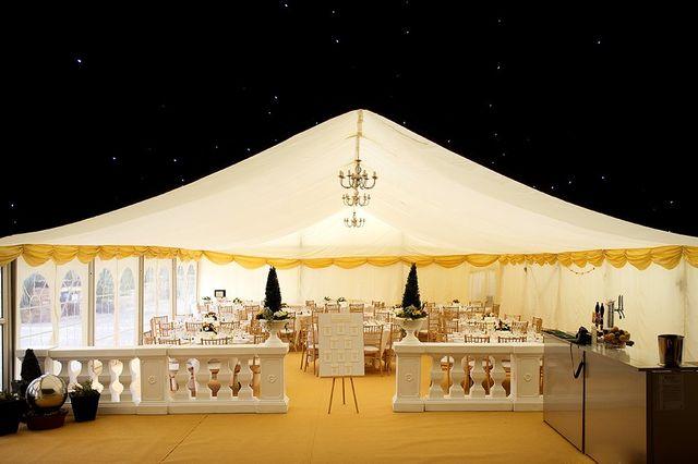 starlights inside tent