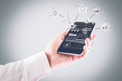 uno smartphone che mostra un grafico