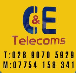C and E Telecoms logo