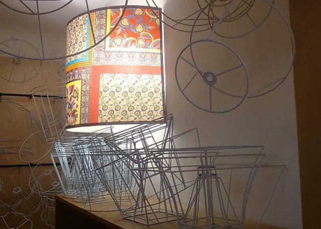 strutture in metallo per lampadari