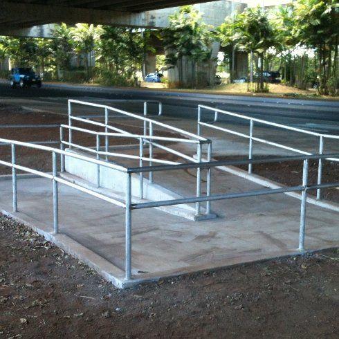 Commercial railings in Nimitz custom built by Arc Design Hawaii