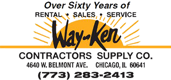 Contractors equipment rental & sales | Chicago, IL | Way-Ken