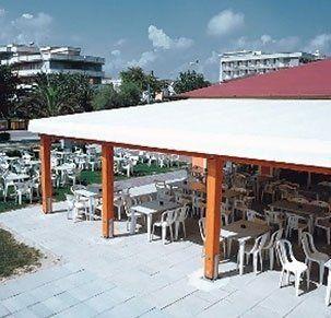 Veranda con copertura in PVC