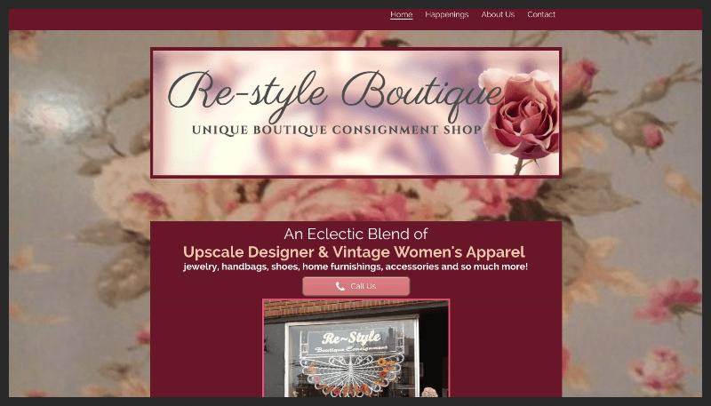 www.RestyleBoutique.com multi-screen site