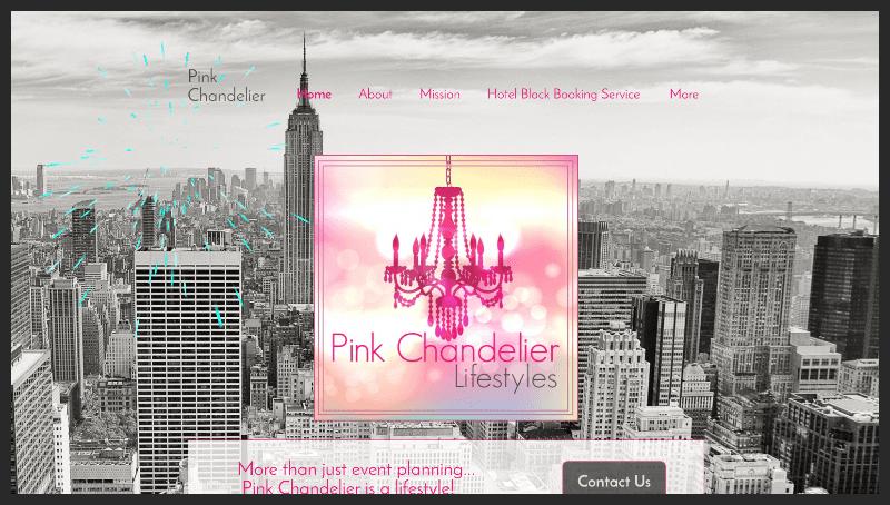 www.PinkChandelier.us multo-screen website