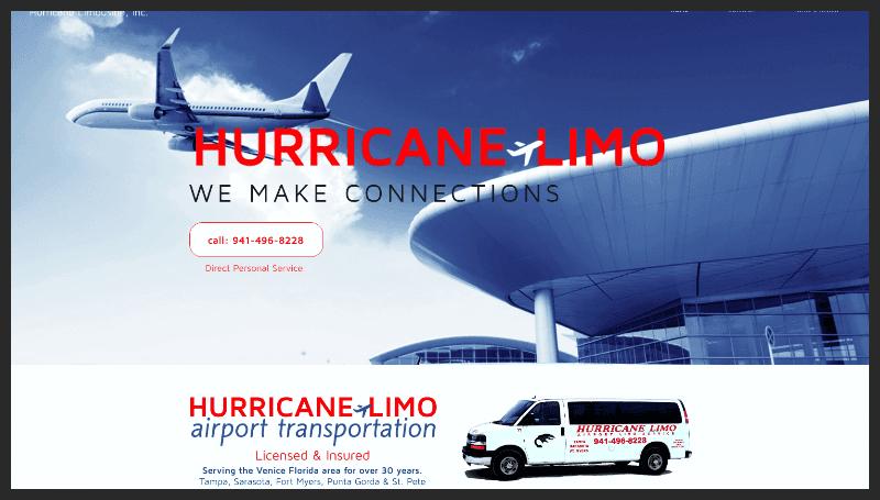 www.HurricaneLimo.com multi-screen website