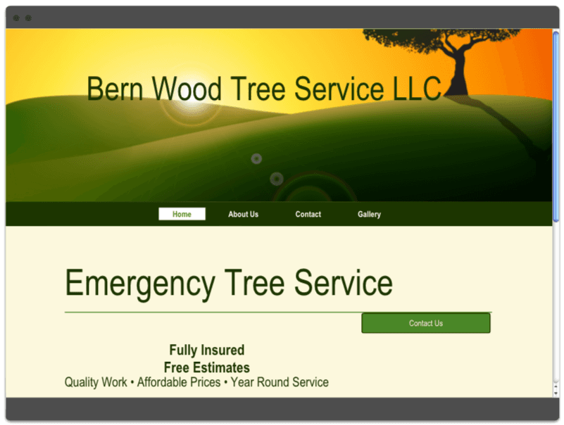 Bernwood Tree Service Website