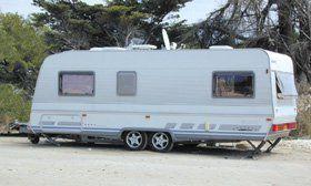 Caravan repair - Gwent - D S Caravan Services - Parked caravan