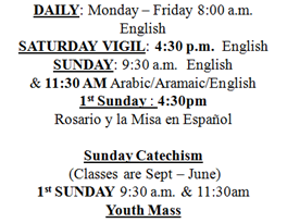 Monday To Sunday In Arabic