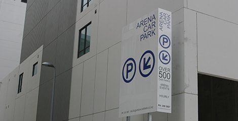 Arena car parking signage