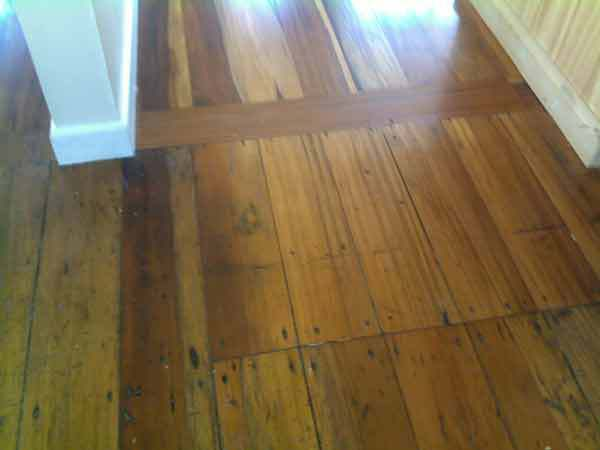 Wooden floor in newly built home