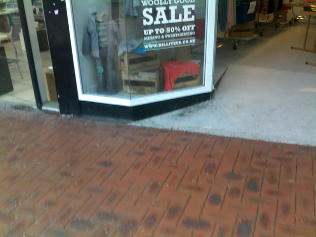 Floor view of the retail outlet after completion