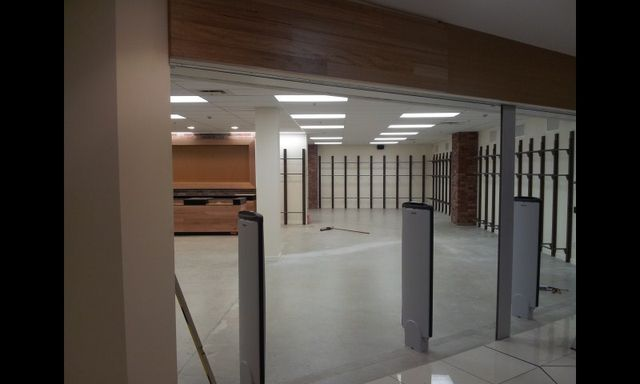 Retail outlet view after renovation.