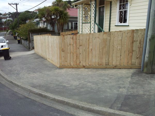 Newly constructed driveway
