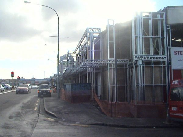 Renovation work at commercial building under process