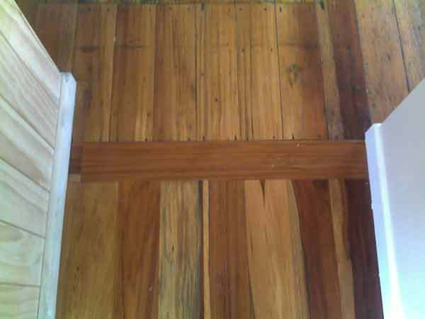 Wooden floor in interior of newly constructed home