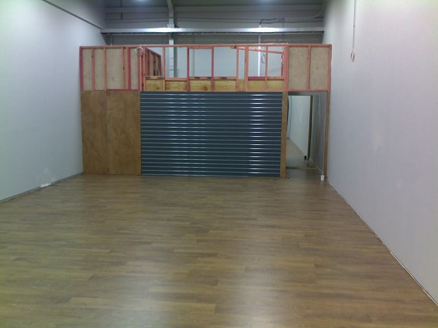 Construction under progress for a retail outlet.
