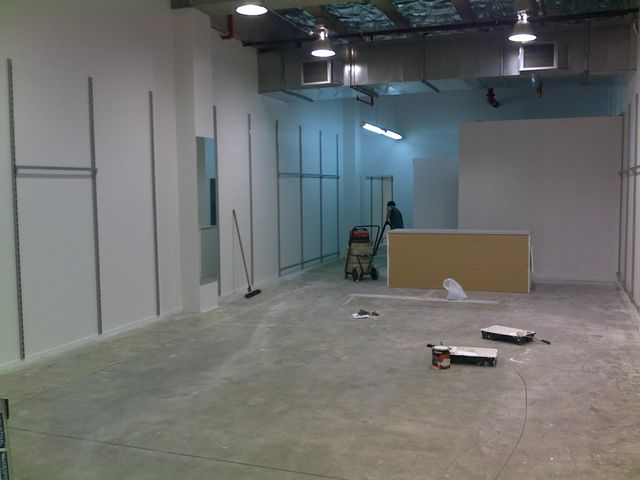 Interior of commercial space under renovation