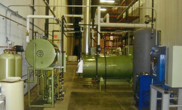 Commercial boiler repair work in progress in Cincinnati, OH