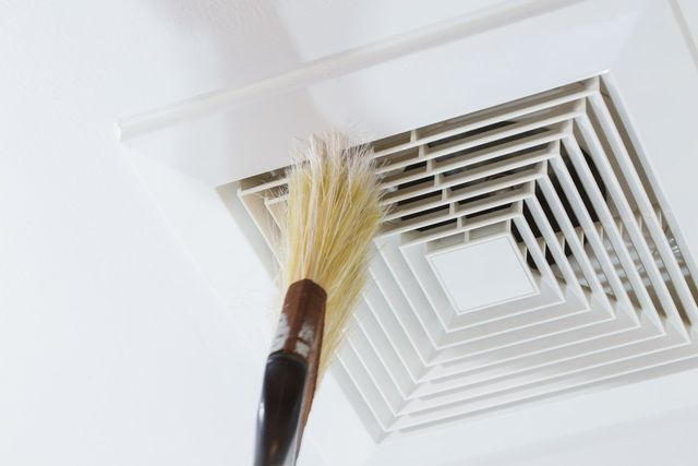 an air duct being cleaned by a HVAC contractor