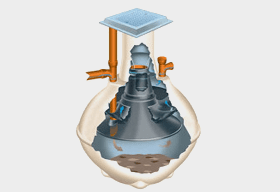 graphic of septic tank emptying