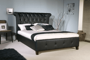 Rhodes Leather Bed Frame