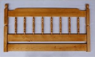 Spindle Pine Headboard
