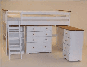 White Wash Midi Sleeper Bed